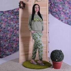 """Женская теплая пижама """"Авокадо"""" р. 42-54"""
