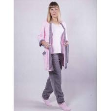 """Пижама с махровым халатом + сапожки """"Luisa"""" р. 42-54"""