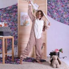 "Детский махровый кигуруми  "" Bags Bunny - cappucino"" р. 34-40"