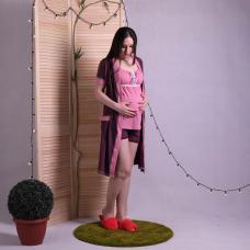 """Комплект халат с пижамой """"Лейсли-1"""" р.42-54"""