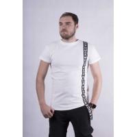 """Мужская стильная футболка """"Tape-white""""  р. 44-52"""