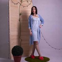 """Комплект ночная с халатом """"Leyla"""" р.42-54"""