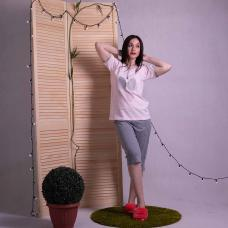 "Женская пижама футболка с бриджами ""Minnie - Gray"" р. 44-52"