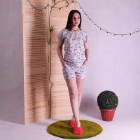 """Женская летняя пижама майка с шортами """"Mоuse"""" р.42-54"""