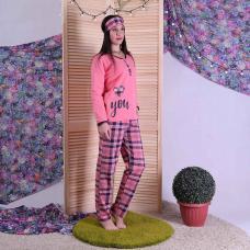 """Женская теплая пижама с маской """"Vona"""" 44-56"""