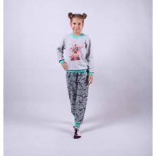 """Подростковый теплая пижама """"Олени"""" р.36-40"""