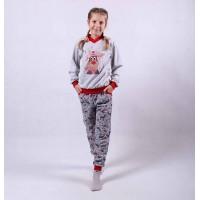 """Подростковый теплая пижама """"Олени - new"""" р.36-40"""