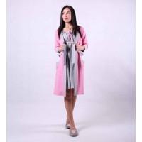 Теплый женский комплект халат с ночной р.42-54