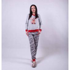 """Женская теплая пижама """"Олени-new"""" р. 42-54"""