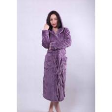 """Женский длинный махровый халат """"Violet"""" р.42-54"""