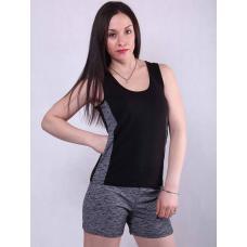 "Женский  костюм майка с шортами ""Fitness"" р. 42-50"